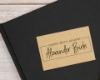 Individueller Ex Libris Stempel mit Handschrift, personalisiert